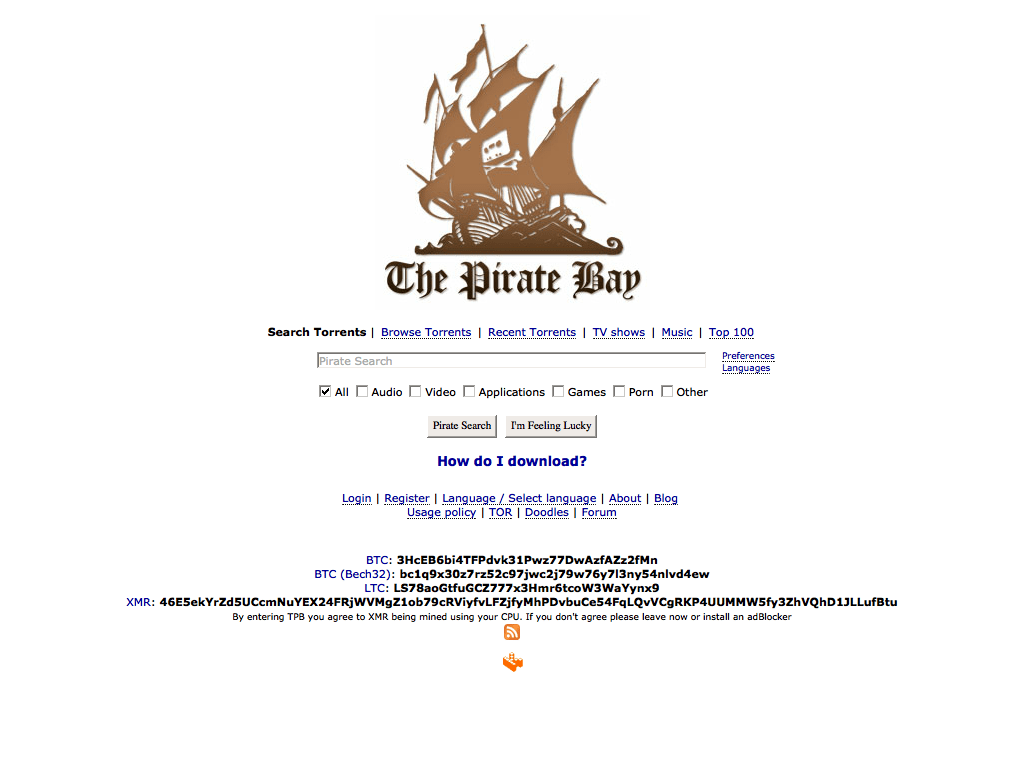 pirate proxy list of sites and mirrors